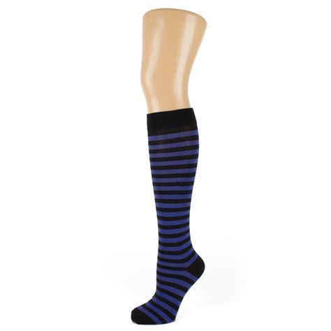 Striped The Knee Socks thin striped knee high socks ebay