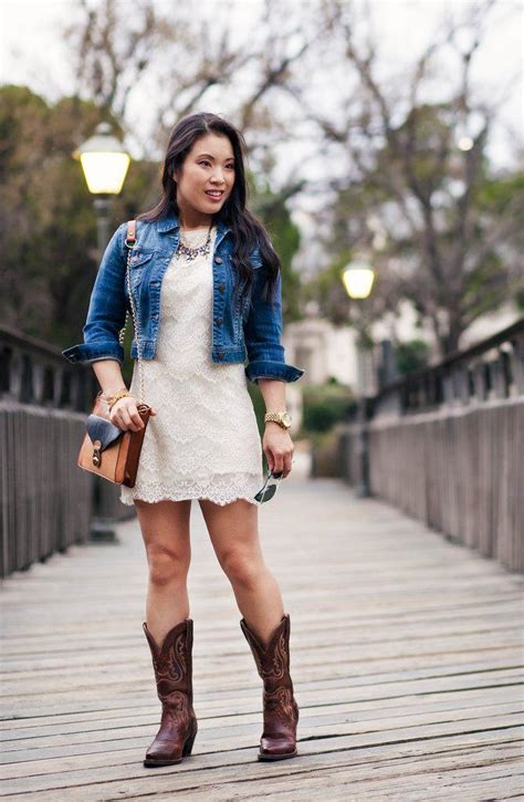 dress to wear with cowboy boots with cowboy boots 19 ways to wear cowboy shoes