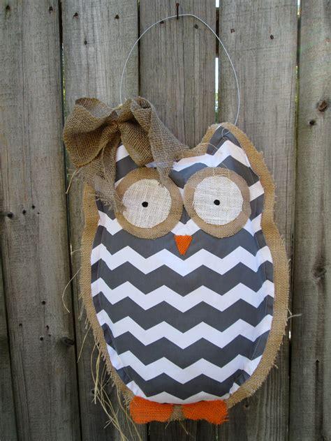 ready to ship owl burlap door hanger door decoration mixed