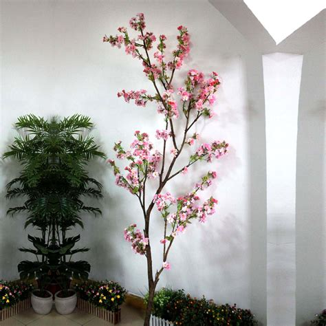 artificial cherry blossom tree branch decoration for