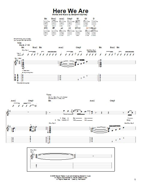 0008266166 here we are notes for here we are sheet music direct