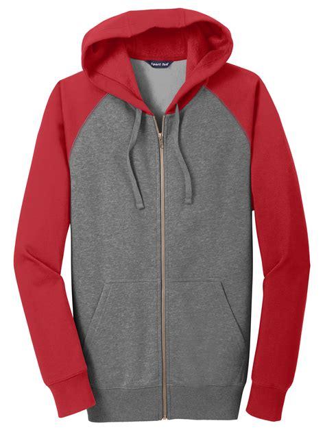 design full zip jacket design adult raglan colorblock full zip hooded jacket