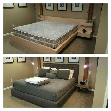 malm bed hacks ikea malm bed hack before and after great design