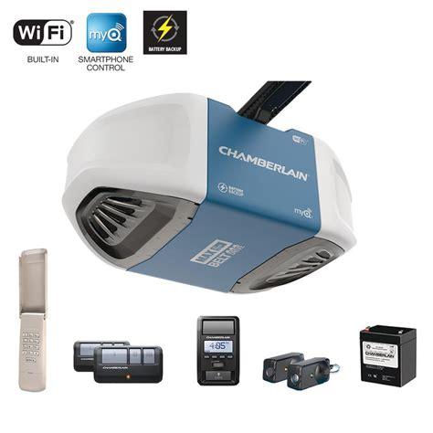 Smartphone Controlled Garage Door Opener Chamberlain 1 1 4 Hp Smartphone Controlled Ultra Strong Belt Drive Garage Door Opener W