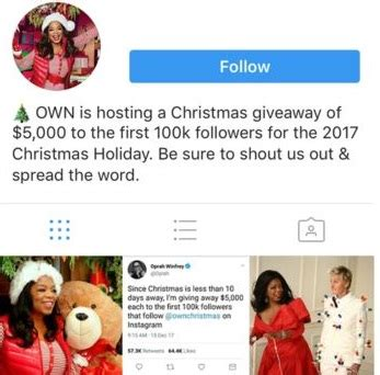 Oprah Christmas Giveaway - beware of oprah winfrey christmas holiday giveaway scams