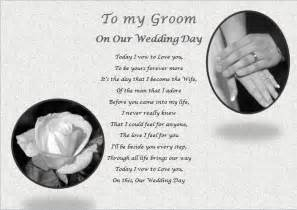 to my on our wedding day card my groom on our wedding day personalised gift ebay