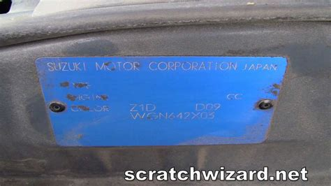 how to find your suzuki paint code