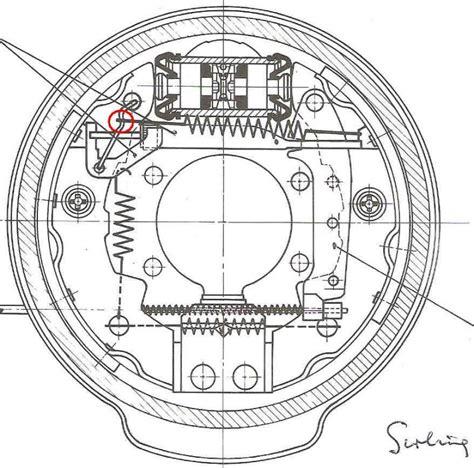 rear brake shoes diagram diagram or explanation wanted 4 brake shoe springs on