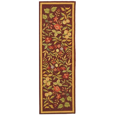 burgundy rug runner safavieh chelsea burgundy 2 ft 6 in x 6 ft rug runner hk210c 26 the home depot