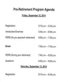 Retirement Program Template by 7 Retirement Program Free Sle Exle Format