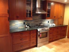 kitchen backsplash cherry cabinets kitchen remodel cherry cabinets slate backsplash