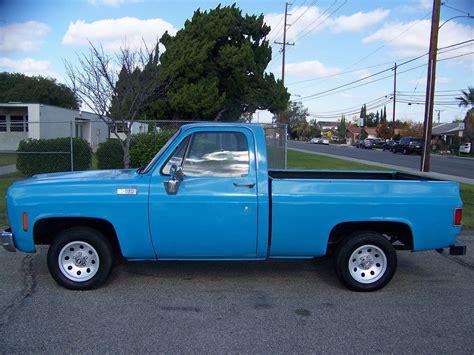 truck ca 1977 gmc c15 c10 chevrolet shortbed fleetside ca truck