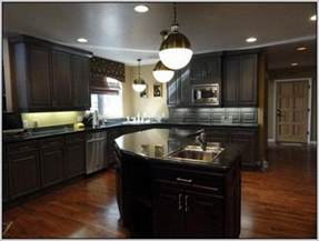 paint colors for kitchen walls with dark cabinets wall color for kitchen with dark cabinets