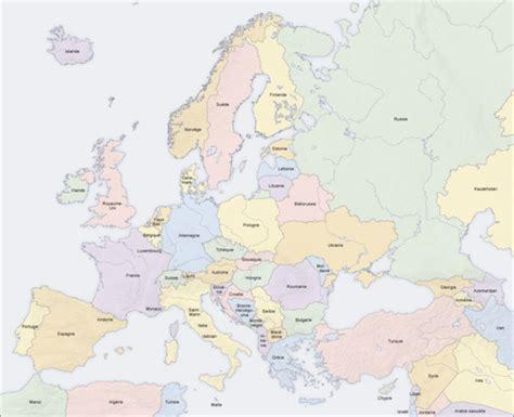 map de l europe carte g 233 ographique de l europe napol 233 onienne