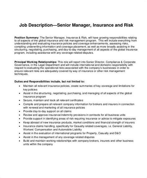 risk description template risk management description sle 8 exles in