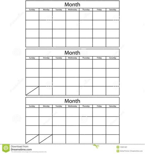 Free Printable 3 Month Calendar Template   Printable