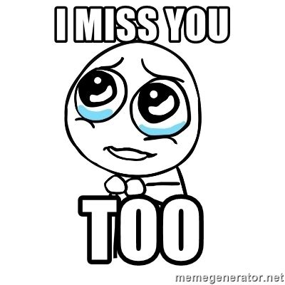 i miss you too images i miss you too pleaseguy meme generator