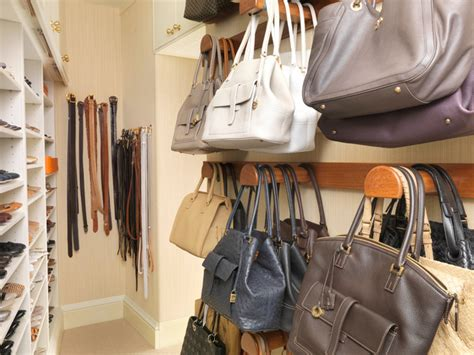 shoe and purse storage walk in closet with storage for shoes and handbags