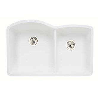 Blanco 440180 White Diamond 32 Quot Double Basin Undermount Silgranit Ii Kitchen Sink With 60 40 Blanco Sink Template