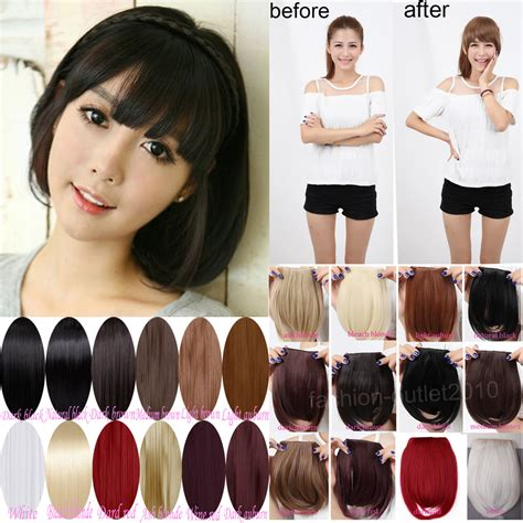 are there bang pieces for black hair aliexpress com buy sweet short fringe bangs front clip