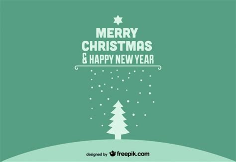 merry christmas happy  year green postcard  vector