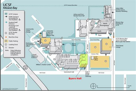san francisco map mission bay ucsf mission bay cus byers 211 pediatric