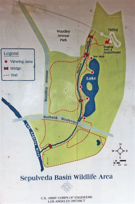 map of los angeles basin sepulveda dam
