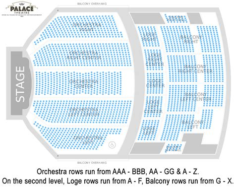 seating charts palace theatre albany