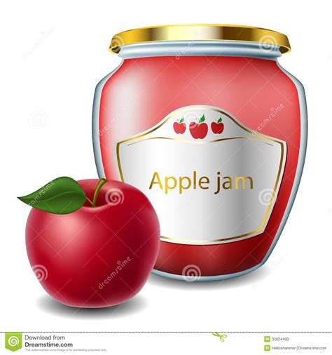 Jam Apple Sport apple jam with jar stock photo image of container 32024400
