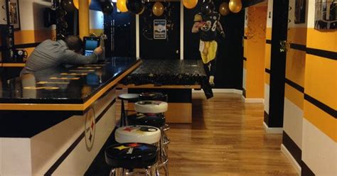 steelers man cave  years party steelers