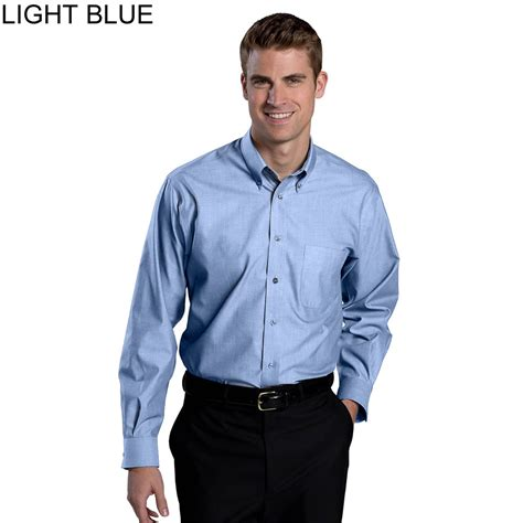 light blue button up shirt mens edwards men s no iron button down long sleeves dress shirt