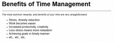 benefits of time management skills what is leadership