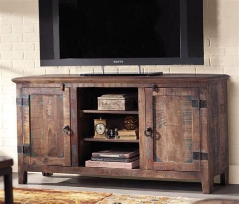 Rustic Tv Console Table Holbrook Tv Stand Add Interest And Rustic Appeal To Your Home Theater Furniture Item 01793