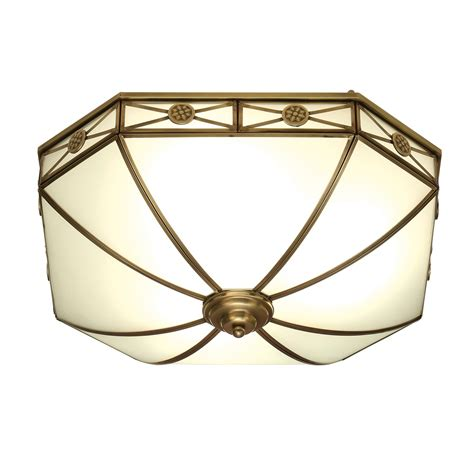 Antique Brass Flush Ceiling Lights Interiors 1900 Bannerman Flush Ceiling Light In Antique Brass Style Sn04fl50