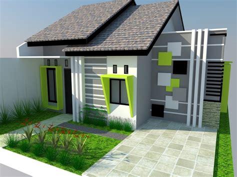 rumah sederhana hijau desain atap rumah minimalis