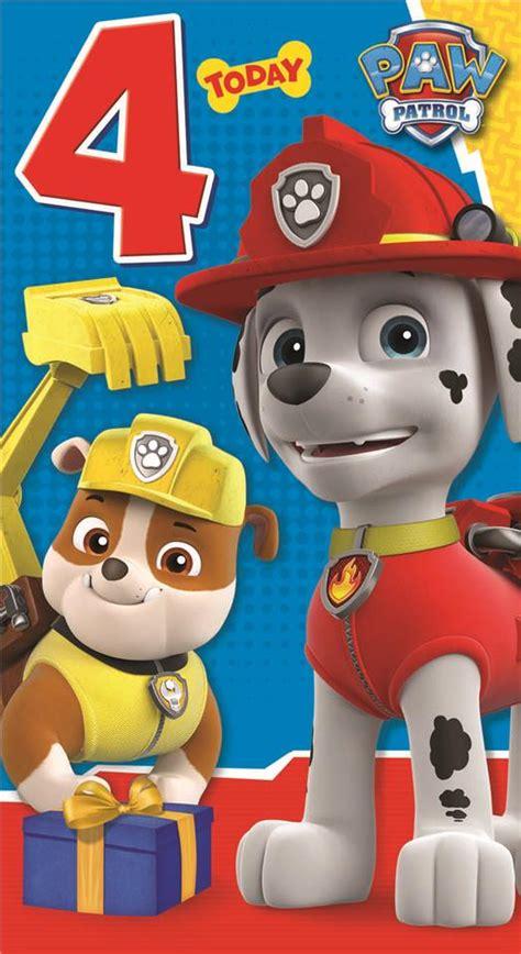 paw patrol nada es 8448844572 paw patrol feliz cumplea 241 os 4 a 241 os 4th tarjeta ebay