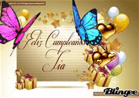 imagenes de cumpleaños a una tia feliz cumple tia picture 131925504 blingee com