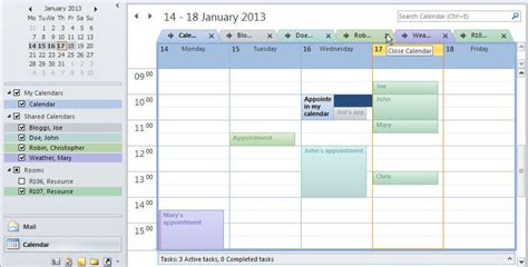 2 Calendars In Outlook 2010 Viewing Calendars Outlook 2010