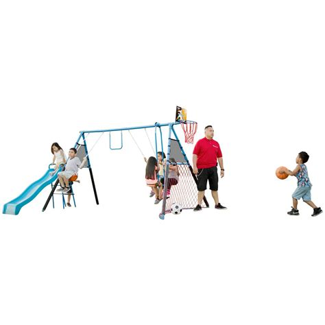 7 station swing set fitness reality 7 station sports series metal swing