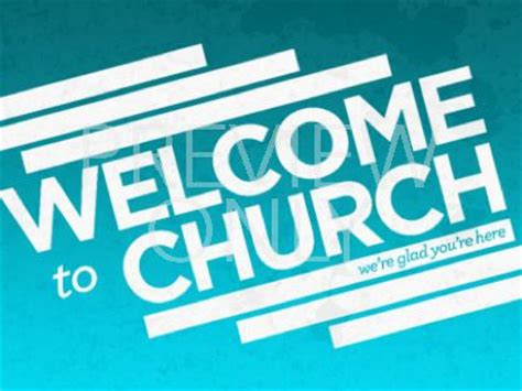 welcoming visitors to your church