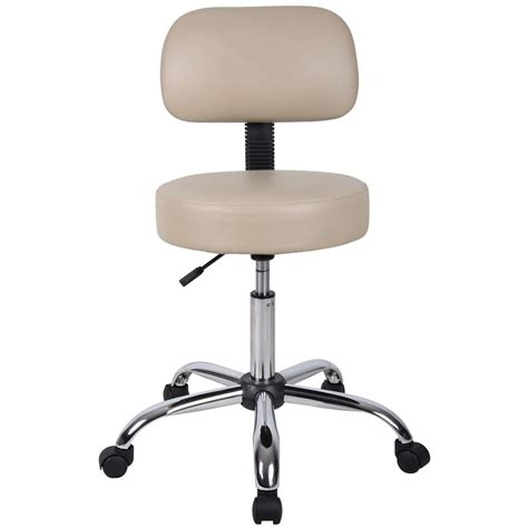 Black Caressoft Stool W Back by Beige Caressoft Stool W Back Cushion