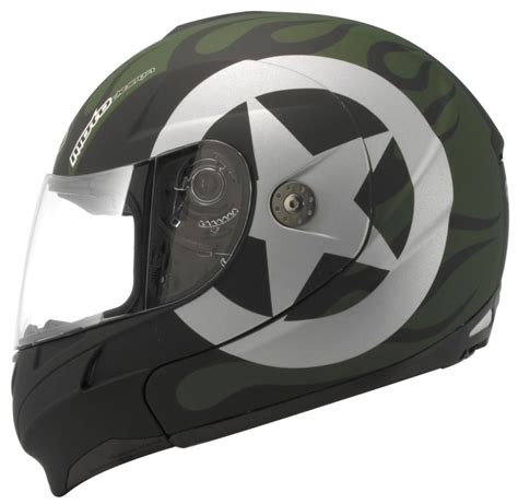 kbc motocross helmet kbc ffr modular full face helmet retro black green