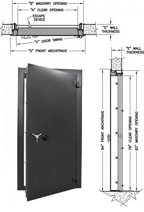 safe room dimensions vault doors residential access security