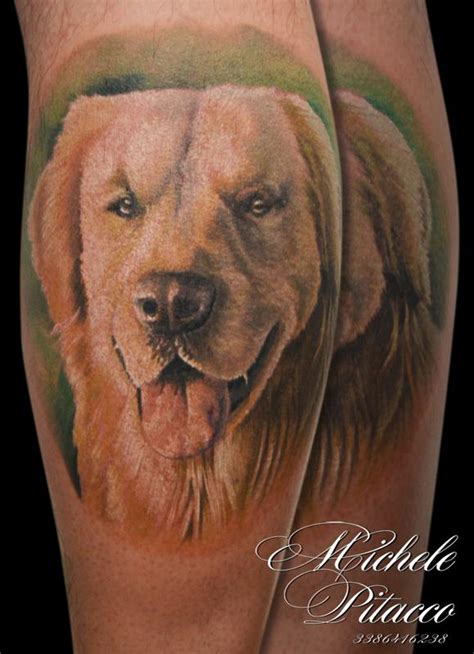 golden retriever tattoo golden retriver by michele pitacco tattoonow
