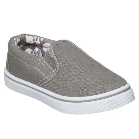 b m gt boys toddler slip on canvas shoes grey 2893302