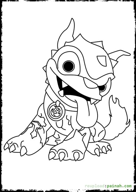 hot dog the skylander free colouring pages