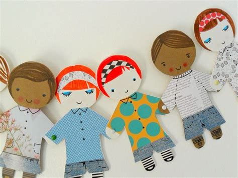 Paper Doll Crafts - best 25 paper doll chain ideas on on the doll