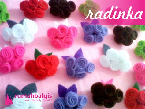 Bros Bunga Jilbab Syarii Abstract Flower Brooch pin bros bunga dari kain flanel dan monte dok karindo cake on
