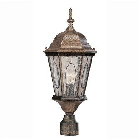 Bel Air Outdoor Lighting Bel Air Lighting Cameo 1 Light Outdoor Black Bronze Post Top Lantern With Water Glass 4716 Brz