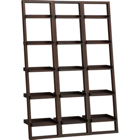 crate and barrel sloane leaning bookcase leaning bookshelf quotes